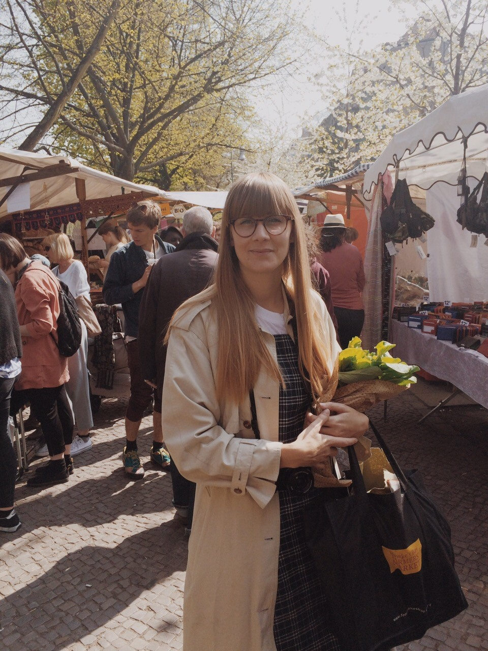 Jessica Prescott auf dem Wochenmarkt