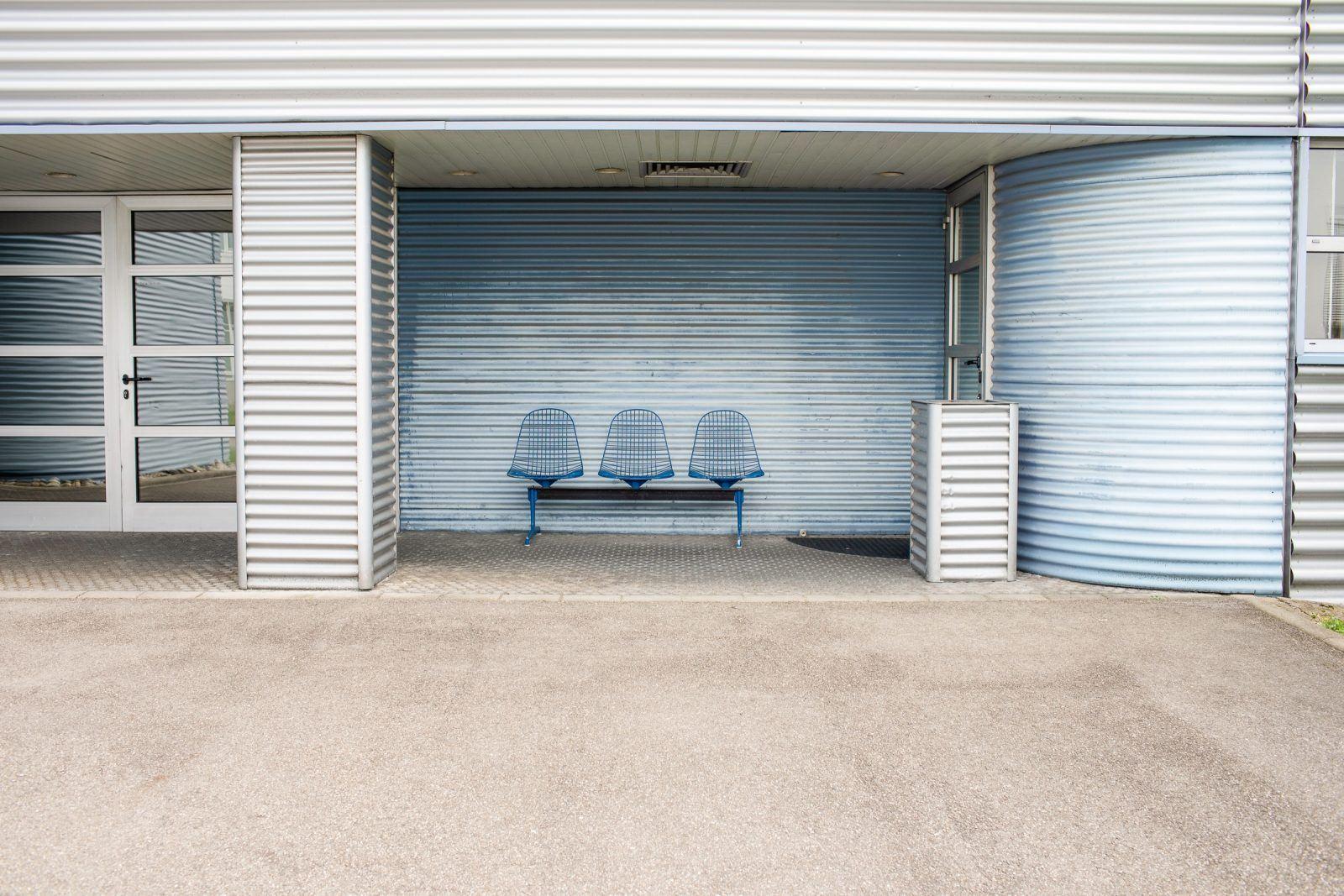 Sitzbank auf dem Vitra Campus