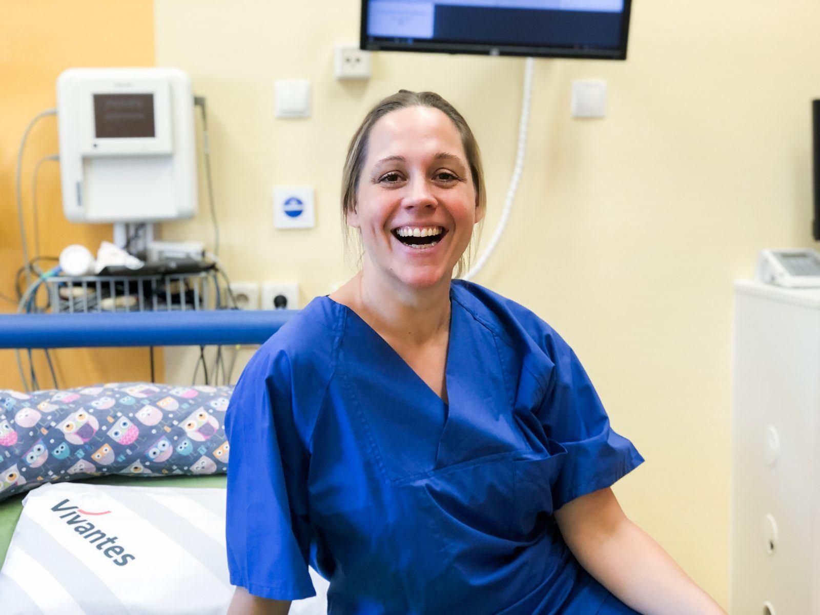 Glücklich in einem aussterbenden Beruf: Beleghebamme Christiane Hammerl