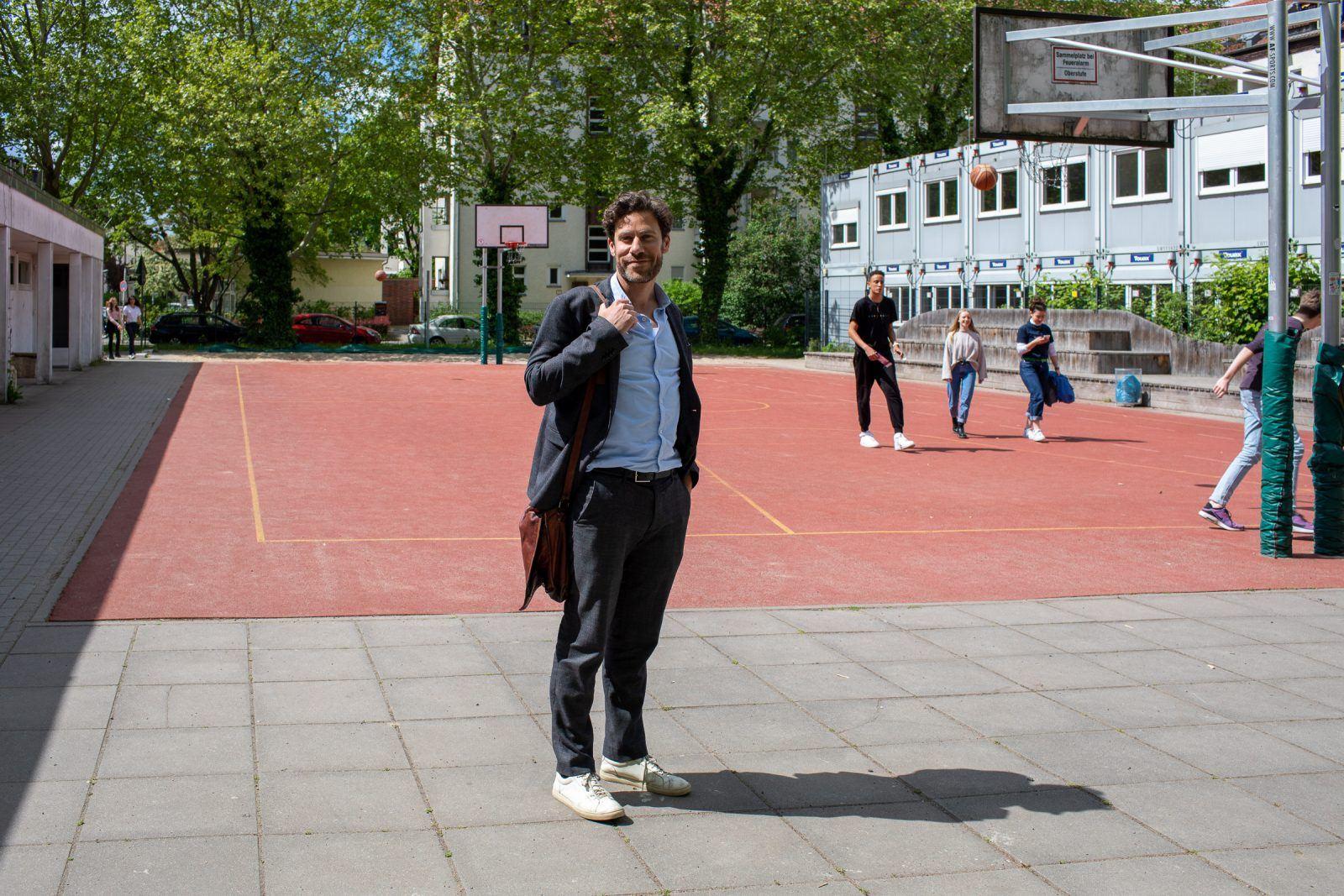 Philip Elsen beim Sportplatz